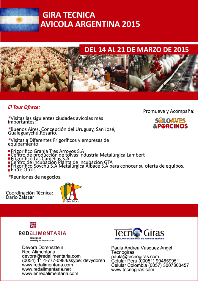 Gira Técnica Avícola Argentina 2015