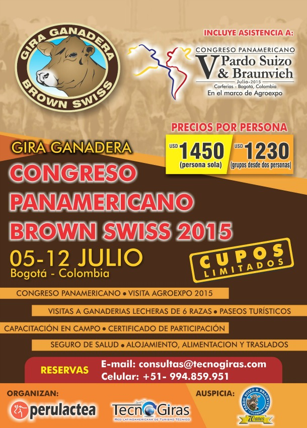 Gira Ganadera Congreso Brown Swiss 2015