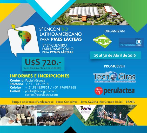 Gira Técnica: 3° Encuentro Latinoamericano de Pymes Lácteas Brasil 2016