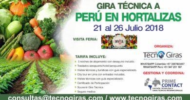 Gira Técnica: Producción de Hortalizas Perú 2018