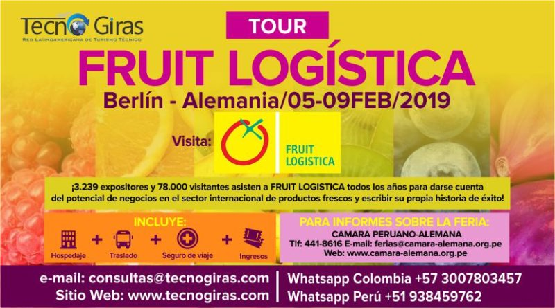 Tour Fruit Logística Berlín 2019