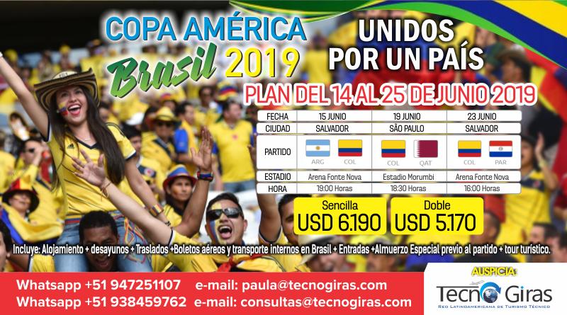 Copa América Brasil 2019 – Partidos Colombia